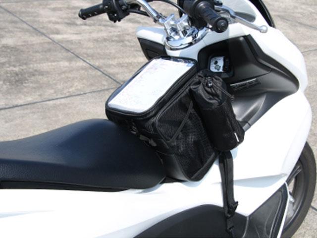 ROUGH&ROAD RR9218 スクーターフロントバッグ(ブラック)
